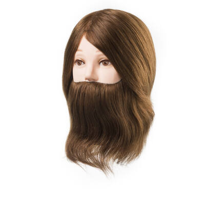 Eurostil Training Head Natural Hair & Beard szakállas babafej (15-18cm)