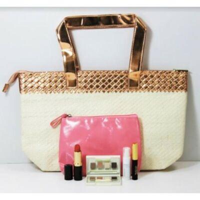 Elizabeth Arden ajándék szett (bézs-arany táska + neszeszer + 4 termék)