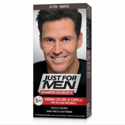 Just for Men Coloring Shampoo Black H-55 színező sampon