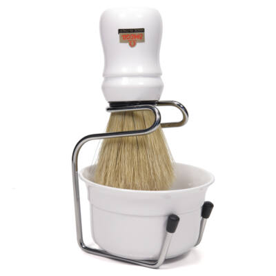 Omega Pure Bristle Shaving Brush with Bowl and Stand (49.18)