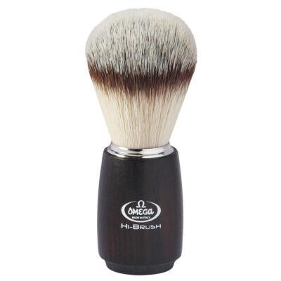 Omega Hi-BRUSH fiber shaving brush, painted ash wood handle 114mm
