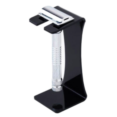 Pearl Acrylic Razor Stand (black) borotvatartó