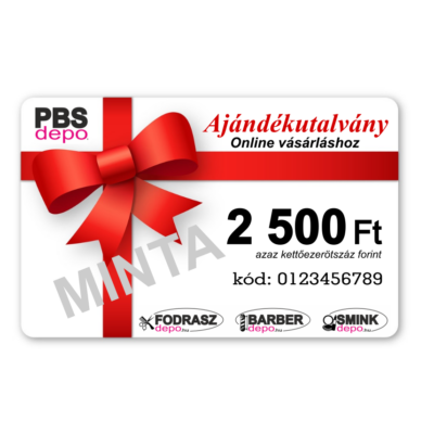 Ajándékutalvány Online Vásárláshoz - 2500Ft